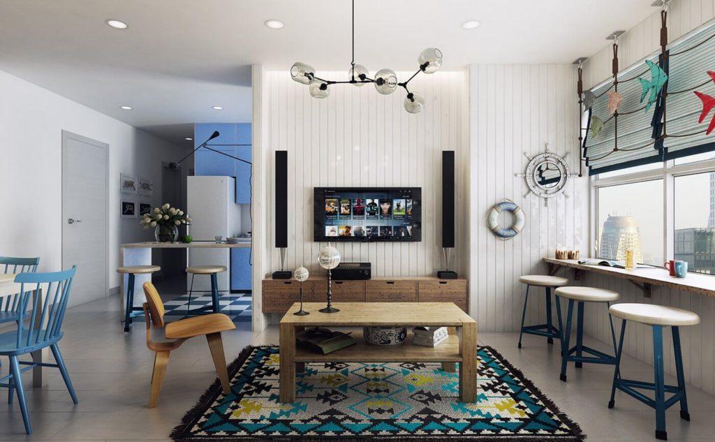 Яркие цвета в дизайне в скандинавском стиле