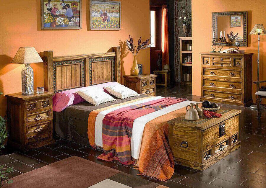 Деревянная мебель в стиле Бохо