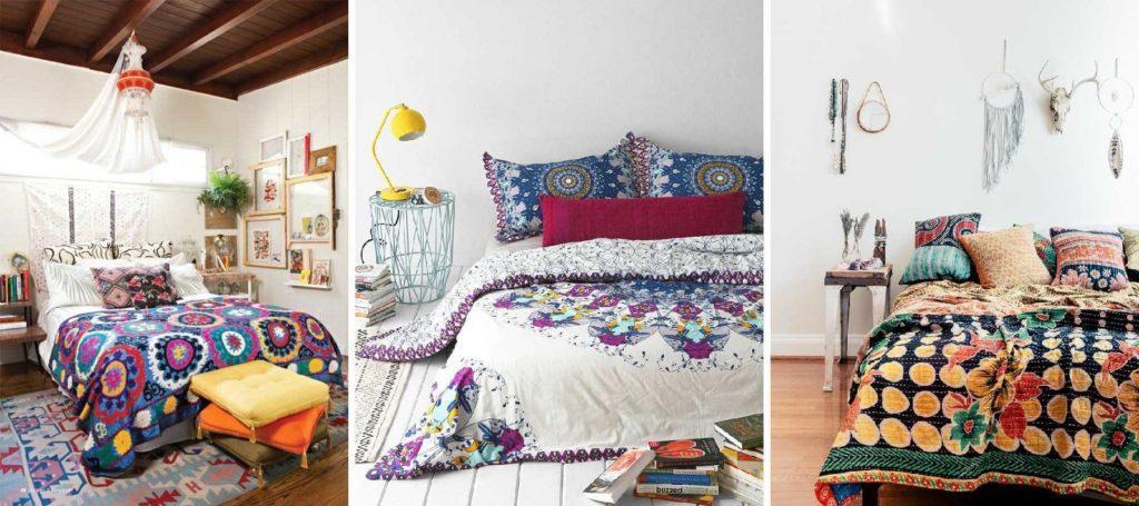 Уютные спальни Бохо